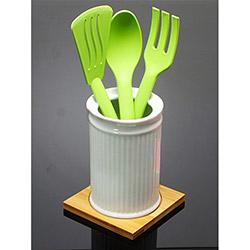 İmaj 05 Bambu Standlı Porselen Kaşıklık