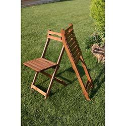 Modermo Ahşap Katlanır Sandalye - 4 Adet (110)