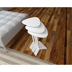 Sepia Ego 3'lü Zigon Sehpa - Beyaz