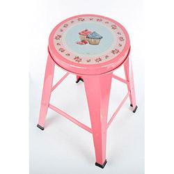 The Mia Cupcake 2 Tabure - Pembe