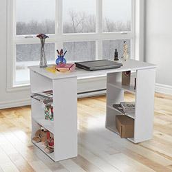 House Line Kitaplıklı Çalışma Masası - Beyaz