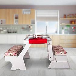 House Line Modüler Mutfak Masası - Beyaz / Renkli