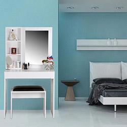 House Line Leina Aynalı Makyaj Masası - Beyaz