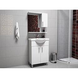 House Line Brano Lavabolu Banyo Dolabı (60 cm) - Beyaz