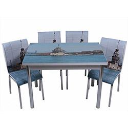 Kristal TK-41 Yemek Masası Takımı (6 Sandalyeli) - Kız Kulesi