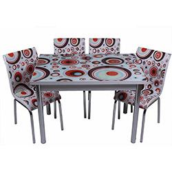 Kristal TK-45 Yemek Masası Takımı (6 Sandalyeli) - Geometrik Desen