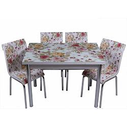 Kristal TK-46 Yemek Masası Takımı (4 Sandalyeli) - Basma Desen