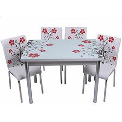 Kristal TK-50 Yemek Masası Takımı (4 Sandalyeli) - Kırmızı
