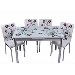 Kristal TK-58 Yemek Masası Takımı (6 Sandalyeli) - Kahve