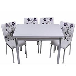 Kristal TK-102 Yemek Masası Takımı (4 Sandalyeli) - Lila