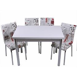 Kristal TK-108 Yemek Masası Takımı (4 Sandalyeli) - Yeni Dünya