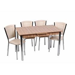 Kristal TK-111 Yemek Masası Takımı (4 Sandalyeli) - Samba