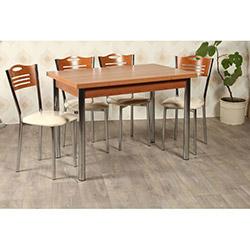 Kristal TK-24-CVZ/4 Yemek Masası Takımı (4 Sandalyeli) - Ceviz