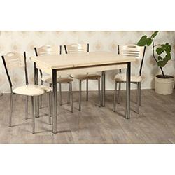 Kristal TK-24-AKC/4 Yemek Masası Takımı (4 Sandalyeli) - Akça