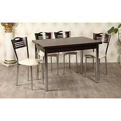 Kristal TK-24-WNG/6 Yemek Masası Takımı (6 Sandalyeli) - Venge