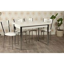 Kristal TK-28 Yemek Masası Takımı (6 Sandalyeli) - Beyaz