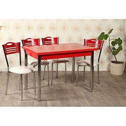 Kristal TK-30 Yemek Masası Takımı (4 Sandalyeli) - Kırmızı