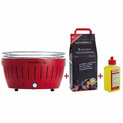 Lotus Grill Izgara XL - Ateş Kırmızısı ( Barbekü Tutuşturucu Jel ve Kömür Hediyeli)