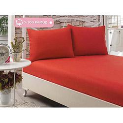 Eponj Home Poplin Çift Kişilik Çarşaf Takımı - Kırmızı