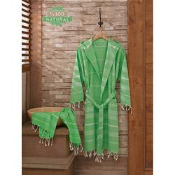 Enlora Home Sultan L/XL Peşkir Bornoz Seti - Çağla Yeşili