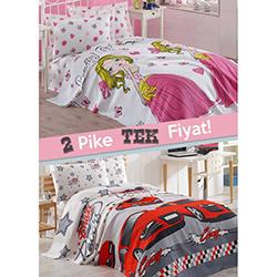 Eponj Home Crayz Girl Tek Kişilik Pike - Kırmızı/Beyaz (1 Alana 1 Bedava)