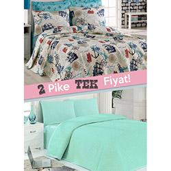 Eponj Home Marine Çift Kişilik Pike (1 Alana 1 Bedava) - Mavi