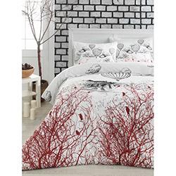 Eponj Home Palvin Çift Kişilik Nevresim Takımı - Beyaz