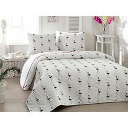 Eponj Home Flamingo Tek Kişilik Yatak Örtüsü Takımı - Beyaz