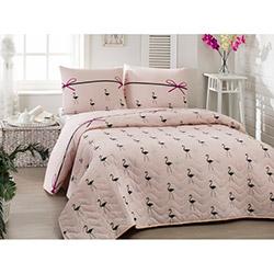 Eponj Home Flamingo Tek Kişilik Yatak Örtüsü Takımı - Pudra