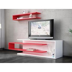 Tenon Tv Ünitesi - Beyaz / Kırmızı