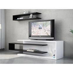 Tenon Tv Ünitesi - Beyaz / Siyah