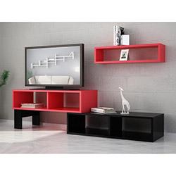 Work Tv Ünitesi - Kırmızı / Siyah