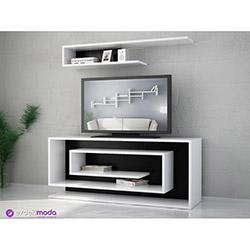 Sarmaşık Tv Sehpası - Beyaz / Siyah