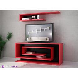 Sarmaşık Tv Sehpası - Kırmızı / Siyah