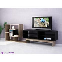Hazzen Tv Sehpası - Siyah / Ceviz