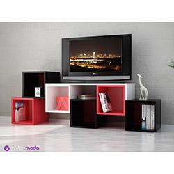 Kuttu Tv Sehpası - Siyah / Kırmızı / Beyaz