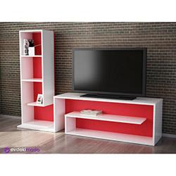 Lord Tv Sehpası - Beyaz / Kırmızı