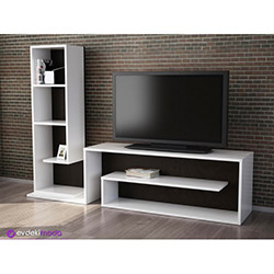 Lord Tv Sehpası - Beyaz / Siyah