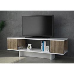 Carew Tv Sehpası - Beyaz / Ceviz