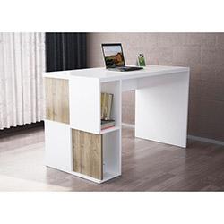 Dama Çalışma Masası - Beyaz / Ceviz