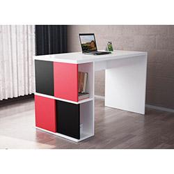 Dama Çalışma Masası - Beyaz / Kırmızı