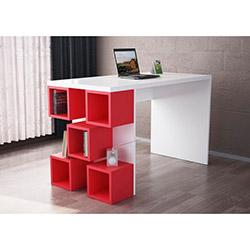 Dart Çalışma Masası - Beyaz / Kırmızı