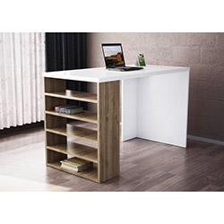 Deste Çalışma Masası - Beyaz / Ceviz