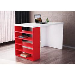 Deste Çalışma Masası - Beyaz / Kırmızı