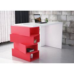 Jenga Çalışma Masası - Beyaz / Kırmızı