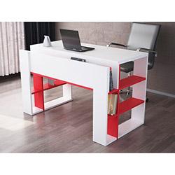 Kanal Çalışma Masası - Beyaz / Kırmızı