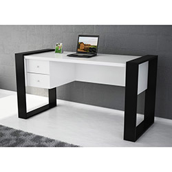 Lord Çalışma Masası - Beyaz / Siyah