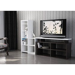Nostalji Tv Sehpası - Venge / Beyaz