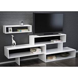 Zenon Tv Sehpası - Beyaz / Siyah