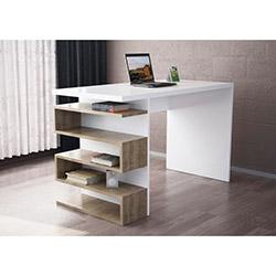 Snake Çalışma Masası - Beyaz / Ceviz